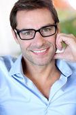 与眼镜的中年男子的画像 — 图库照片