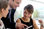 Business-meeting im büro, projekt zu diskutieren — Stockfoto