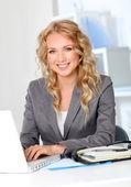 Portrait of businesswoman in office — Stock Photo