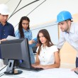 Group of young architects in business meeting — Stock Photo
