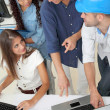 Group of young architects in business meeting — Stock Photo #18206607