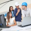 Group of young architects in business meeting — Stock Photo #18206613