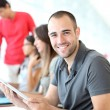 Portrait of smiling student in training course — Stock Photo