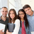 Portrait of cheeful college students — Stock Photo #18207053