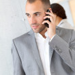 Portrait of businessman using mobile phone  — Stock Photo #18207669