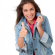 Portrait of smiling teenager — Stock Photo #18208869