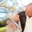 Stock Photo: Closeup of senior couple in countryside