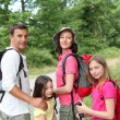 Stock Photo: Family on hiking day