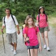 Family on a hiking day — Stock Photo