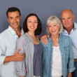 Portrait of happy couple with parents  — Foto Stock
