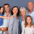 Portrait of happy family — Stockfoto #18210975