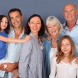 Portrait of happy family — Stock Photo #18210975