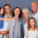 portret rodzina szczęśliwy — Zdjęcie stockowe