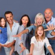 Portrait of happy family — Stock Photo #18210977