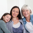 Portrait of grandmother, mother and child — Stock Photo
