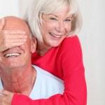 Portrait of happy senior couple — Stock Photo #18213031