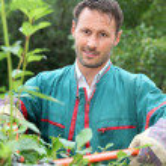 Portrait of smiling gardener — Stock Photo