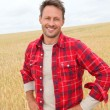Portrait of smiling man in countryside — Stock Photo