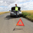 Mon road with car breakdown — Stock Photo #18214827