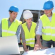 Stock Photo: Industrial working on building site