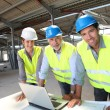 Portrait of construction team on site — Stock Photo #18217049
