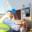Stock Photo: Electrical engineer on building site