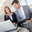 Business partners meeting outside the office — Stock Photo #18218497