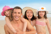 Family vacation at the beach — Stock Photo