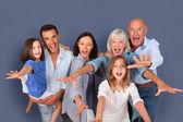 幸福的家庭的肖像 — 图库照片