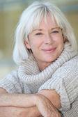 Portrait of beautiful senior woman — Stock Photo