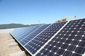 Widok paneli słonecznych — Zdjęcie stockowe