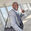 Businessman on business travel journey — Stock Photo