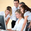 Group of business in work meeting — Stock Photo