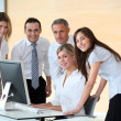 Group of business in work meeting — Stock Photo #18225501
