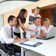 Group of office workers in a business meeting — Stock Photo #18225687