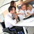 Group of office workers in a business meeting — Stock Photo