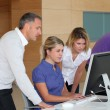 Office workers on business training — Stock Photo