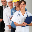 Group of workers — Stock Photo #18226033