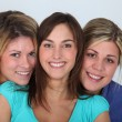 Closeup of 3 young women — Stock Photo #18226155