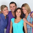 Portrait of groups of friends - Stock Photo