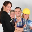 Stock Photo: Group of young workers