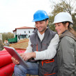 Architect an site supervisor on construcion site — Stock Photo #18226769