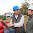 Stock Photo: Architect an site supervisor on construcion site