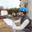 Supervisor on construction site — Stock Photo