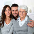 Stock Photo: Portrait of grandmother with grandchildren