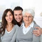 Portrait of grandmother with grandchildren — Stock Photo #18226967