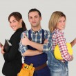 Group of young workers — Stock Photo #18227609