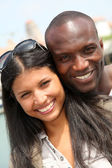 Portrait of metis couple in town — Stock Photo