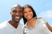 Portrét radostné páru — Stock fotografie