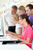 Group of attending business training — Stock Photo